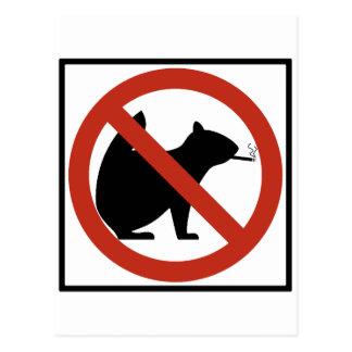 Nichtrauchereichhörnchen erlaubten postkarten