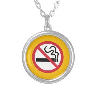 Nichtraucherikone Versilberte Kette