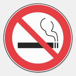 Nichtraucherzeichen Runder Aufkleber