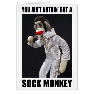 Nichts aber eine Socken-Affegrußkarte Karte