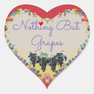 Nichts aber Trauben-Herz-Aufkleber Herz-Aufkleber