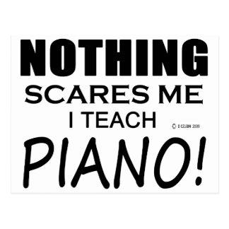 Nichts erschrickt mich Klavier Postkarte