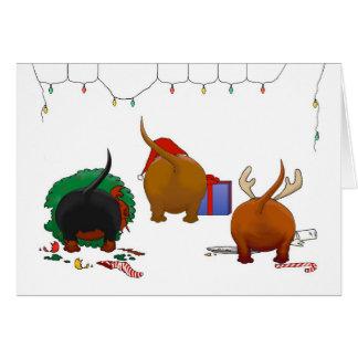 Nichts Hintern ein Dackel-Weihnachten Grußkarten