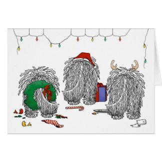 Nichts Hintern ein Komondor Weihnachten Karte