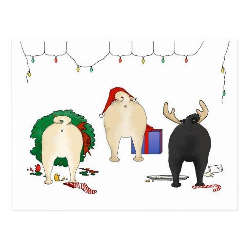 nichts hintern ein mops weihnachten postkarten zazzle. Black Bedroom Furniture Sets. Home Design Ideas