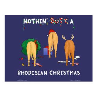Nichts Hintern ein Rhodesian Weihnachten Postkarte