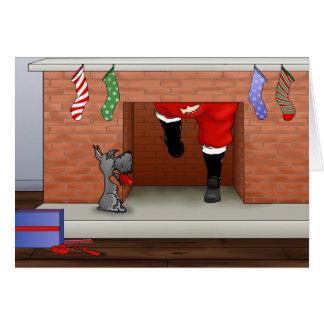 Nichts Hintern ein Schnauzer-Weihnachten Karte