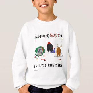Nichts Hintern ein Sheltie Weihnachten Sweatshirt
