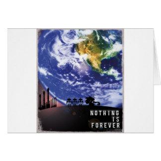 Nichts ist Forever Grußkarte