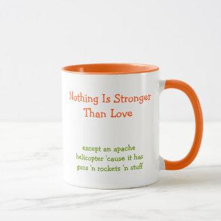 Nichts ist stärker als lustiger Zitat-Kaffee der Tasse