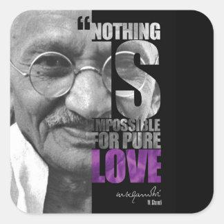 Nichts ist unmöglich Gandhi Aufkleber