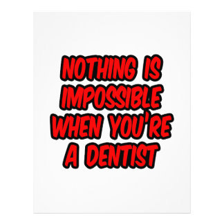 Nichts ist unmöglich… Zahnarzt Flyer Druck