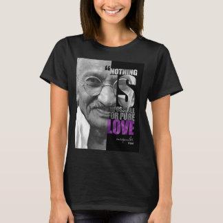 Nichts ist unmöglicher Gandhi Dunkelheits-T - T-Shirt