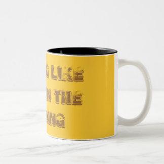 Nichts mögen coffe morgens zweifarbige tasse