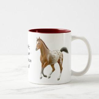 Nichts schlägt eine Appaloosa-PferdeTasse Zweifarbige Tasse