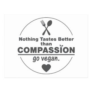 Nichts schmeckt besser, als Mitleid vegan gehen Postkarte