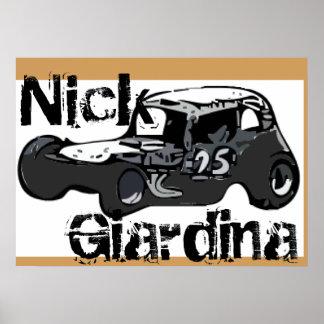 Nick Giardina Coupé-Stockcar geändertes laufendes Poster