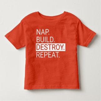 Nickerchen. Gestalt. Zerstören Sie. Wiederholen Kleinkind T-shirt