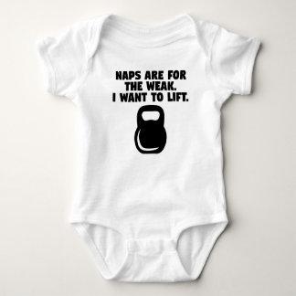 Nickerchen sind für das schwache ich wollen, um baby strampler