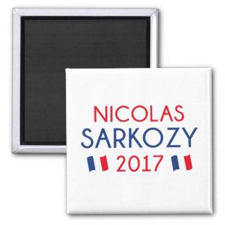 Nicolas Sarkozy 2017 Quadratischer Magnet