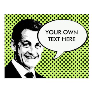 Nicolas Sarkozy Postkarte
