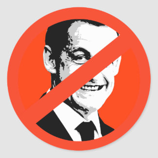 Nicolas Sarkozy Runder Aufkleber