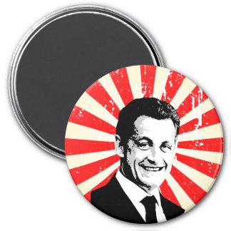 Nicolas Sarkozy Runder Magnet 7,6 Cm