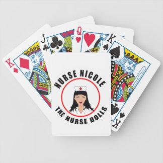 Nicole-Krankenschwester Bicycle Spielkarten