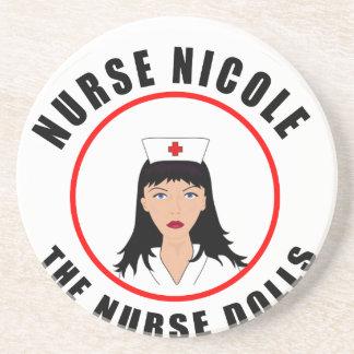 Nicole-Krankenschwester Sandstein Untersetzer