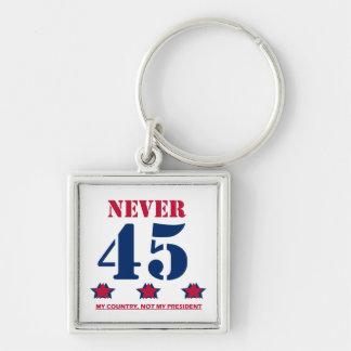 """""""Nie 45"""" Anti-Trumpf Schlüsselanhänger"""