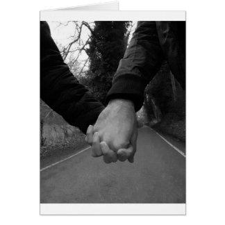 Nie allein. Zusammen sein. Liebe Karte