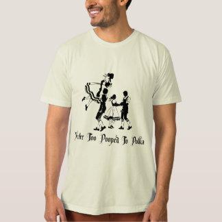 Nie auch gekackt zum Polka-T - Shirt