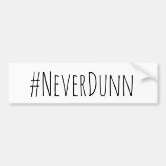 Nie Dunn Autoaufkleber