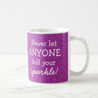 Nie gelassen jedermann Dull Ihren Schein - lila Kaffeetasse