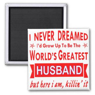 Nie geträumt würde ich der bestste Ehemann der Quadratischer Magnet