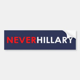 Nie Hillary-Autoaufkleber (blau) Autoaufkleber