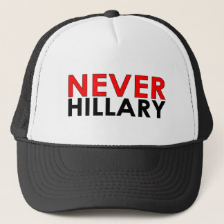 Nie schwarzer Fernlastfahrer-Hut Hillary Truckerkappe