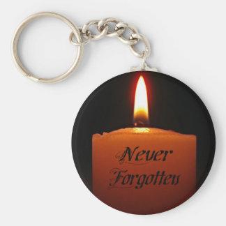 Nie vergessene Erinnerungs-Kerzen-Flamme Schlüsselanhänger