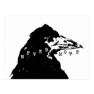 Nie wieder Rabe von Edgar Allan Poe Postkarte