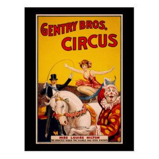 Niederer Adel Bros. Zirkus Postkarte
