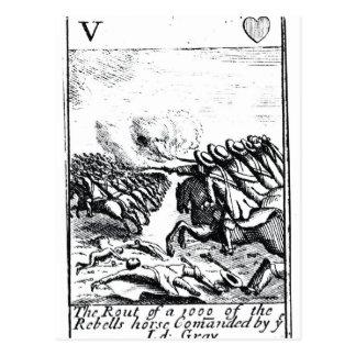 Niederlage von 1000 der Rebellen am Kampf von Postkarte