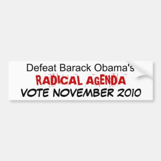 Niederlagen-Barack Obamas RADIKALE TAGESORDNUNG… Autoaufkleber