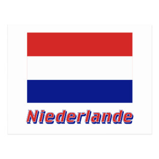 Niederlande Flagge MIT Namen Postkarte