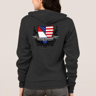 Niederländisch-Amerikanische Schild-Flagge Hoodie