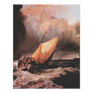 Niederländische Boote in einem Squall durch Joseph Poster