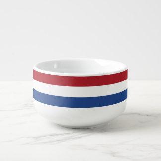 Niederländische Flagge Große Suppentasse