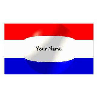 Niederländische Flagge mit Blasen-Visitenkarte Visitenkarten