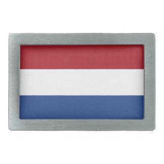 Niederländische Flagge Rechteckige Gürtelschnalle