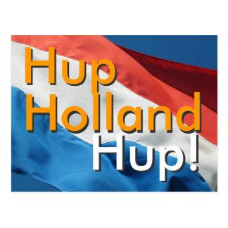 Niederländische Flagge u. Text Hup, Holland, Hup! Postkarte