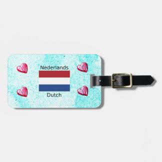 Niederländische Flagge und niederländischer Gepäckanhänger